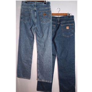 Carhartt Jeans (2) pair men's 30 waist 34 INSEAM